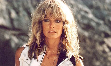 Farrah Fawcett in a scene from Sunburn in 1979.