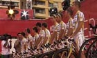 Team Columbia at the opening ceremony of the 2009 Tour de France in Monaco