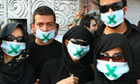 Supporters of defeated presidential candidate Mir Hossein Mousavi demonstrate in Tehran, Iran.