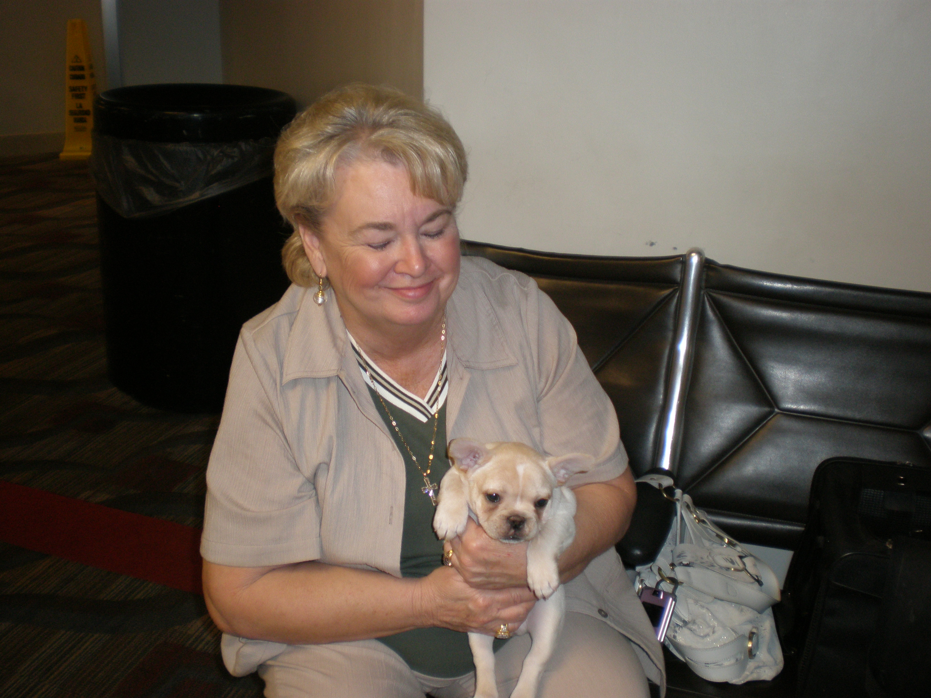 Harriette Cameron and Our French Bulldog Puppy