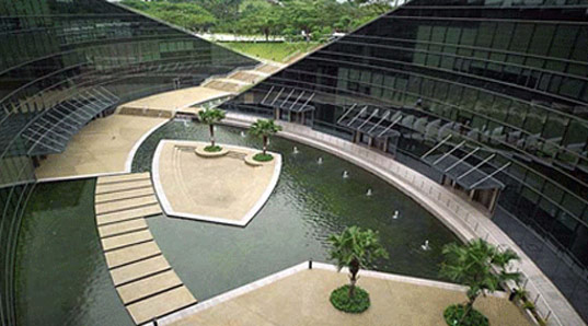 Nanyang Technological University, Singapore, Art, Design, Media, green roofs, natural landscaping, CPG Consultants, glass facade, nanyang9.jpg