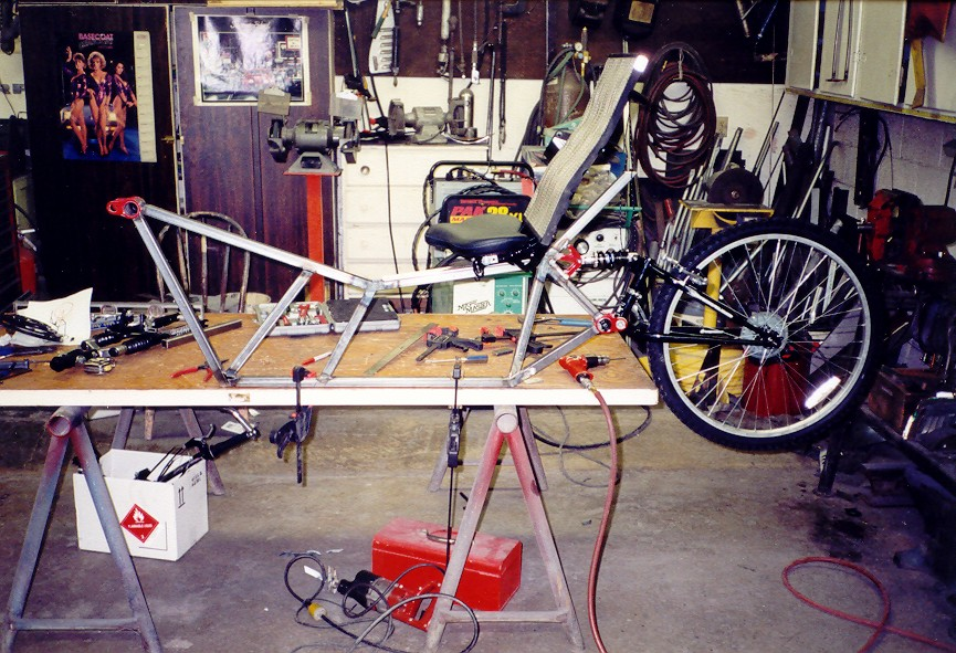 Trike partially built-up