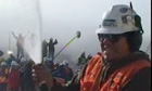 Moment the drill reached trapped Chilean miners