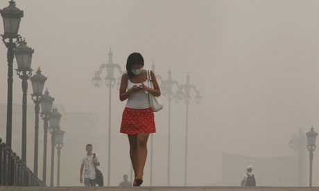 Smog in Moscow caused by fires