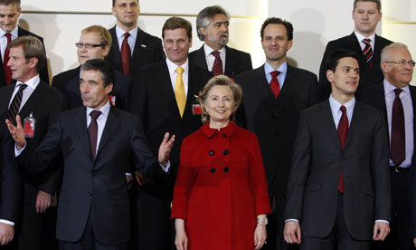 A family photo with NATO foreign ministers at the Alliance headquarters in Brussels