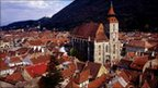 The Black Church and medieval houses in Brasov, Transylvania