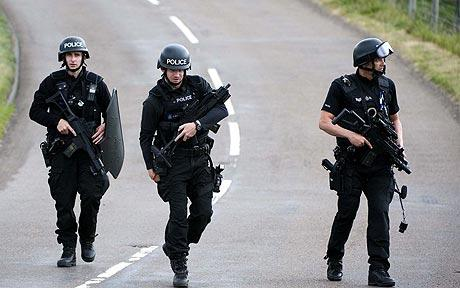 Armed police officers continue their hunt for Raoul Thomas Moat, in Rothbury: Raoul Moat: timeline of gun rampage