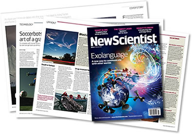 Pictures of spreads from New Scientist magazine