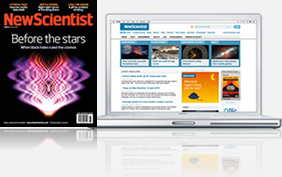 Picture of New Scientist in print and online