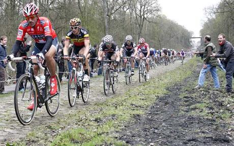 Fabian Cancellara and Tom Boonen - Paris-Roubaix 2010 Fabian Cancellara blows away rivals to win successive Classic