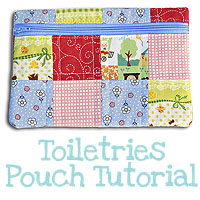 {Make} A Bag Sew Along: Toiletries Pouch Tutorial