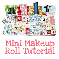 {Make} A Bag Sew Along: Mini Makeup Roll Tutorial