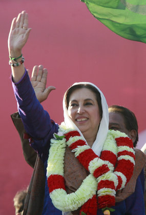 Benazir Bhutto was about to release a report into vote-rigging when she was assassinated, an aide says.