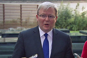 Foreign Minister Kevin Rudd is on his first China visit since being deposed as prime minister.