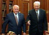 Yeltsin and Chernomyrdin