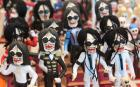 Little skeleton figures dressed as Michael Jackson are pictured at a Day of the Dead festival in Mexico City. Catholics around the world celebrate the Day of the Dead on November 1 and 2 in connection with the holy days of All Saints' Day and All Souls' Day