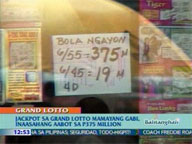 QTV: Jackpot in 6/55 Grand Lotto expected to reach P375M