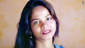 Family photo of Asia Bibi, sentenced to death for blasphemy in Pakistan.