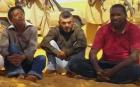 A newly released tape shows the first images of a group of foreign hostages working for a French energy company seized in Niger two weeks ago by an al-Qaeda affiliate, according to a group that monitors terrorism.