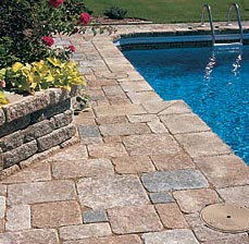 Stone Deck with Stone Walls