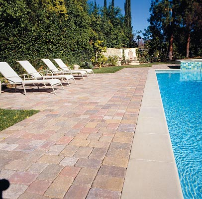 Paver Deck with Concrete Coping