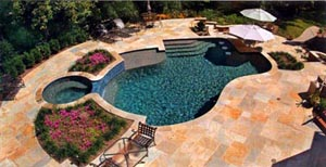 Swimming Pool With Marble Deck