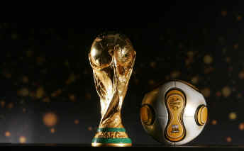 Golden Ball with World Cup Trophy