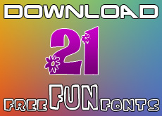 Download 21 Free Fun Fonts