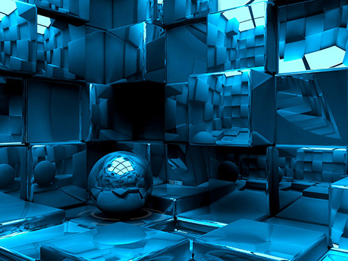 Blue Cubes Graphic