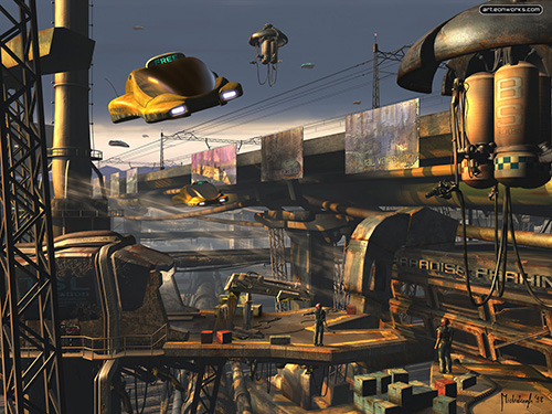 Old Rusty Future City Image