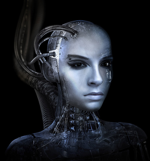 Hi Tech Human Robot - Humanoid 3D Graphic