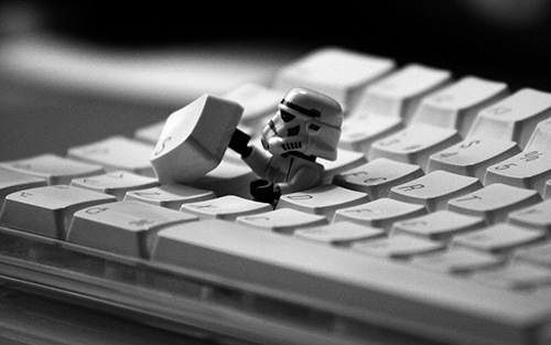 Image of a StarWars Enemy hiding in the Keyboard