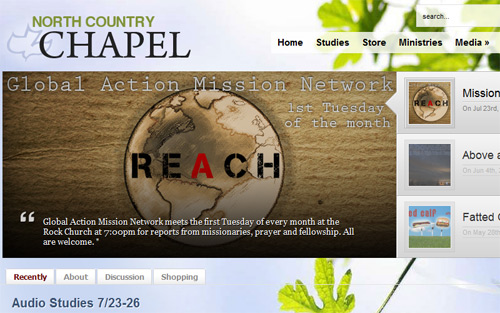 North Country Chapel - Beautiful Church Website