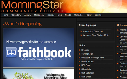 Morning Star Community Church - Beautiful Church Website