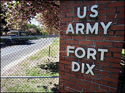 Five men have been indicted on charges of conspiring to kill military personnel at Fort Dix and could face life in prison if convicted. A sixth man faces up to 10 years in prison if he is convicted on weapons charges.