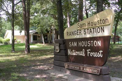 Sam Houston District Office and portal sign.
