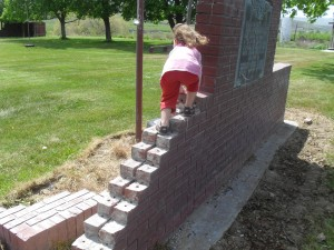 broken-down war memorial, or graduated balance-beam for my 2 yr old?
