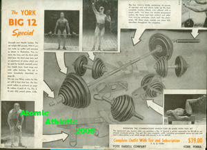 This York ad with Iron Boots was on many back covers of Strength & Health in the 1930's.