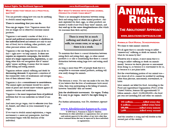 Animal Rights: The Abolitionist Approach Pamphlet