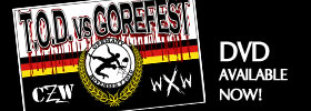 Buy CZW/WXW's TOD vs Gorefest on DVD