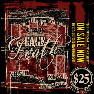 Order your Official Cage of Death XII T-Shirt Today!