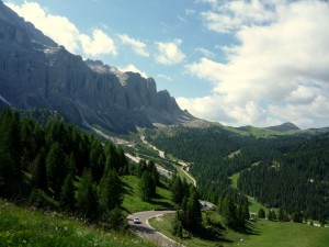 Valley View of the Dolomites in Italy