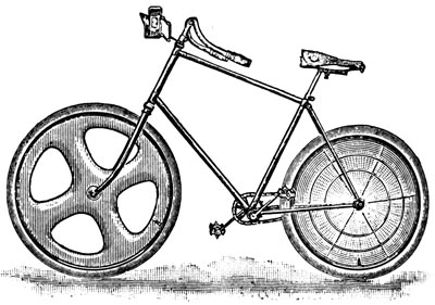 Old bike with disc wheels