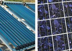 Solar-Thermie- und Fotovoltaik-Panel