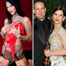 Tattooed model Michelle 'Bombshell' McGee, and Sandra Bullock with her husband Jesse James