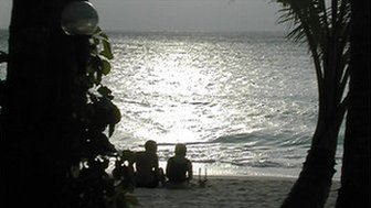 Boracay island in central Philippines