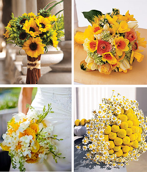 Yellow Wedding Floral Bouquet