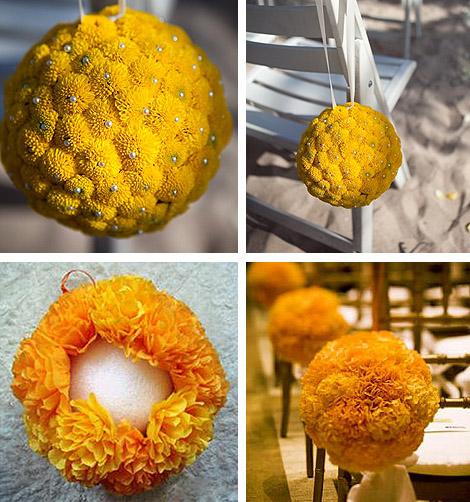 Yellow DIY Tissue Pomander