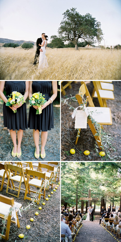 Lemon Themed Wedding