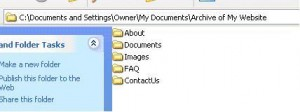 screen shot of simple folder structure